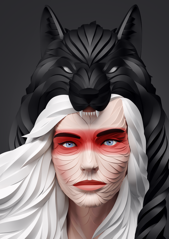 Maxim Shkret New D Animal Illustrations Art People ART - Fascinating 3d renderings of people and animals by maxim shkret