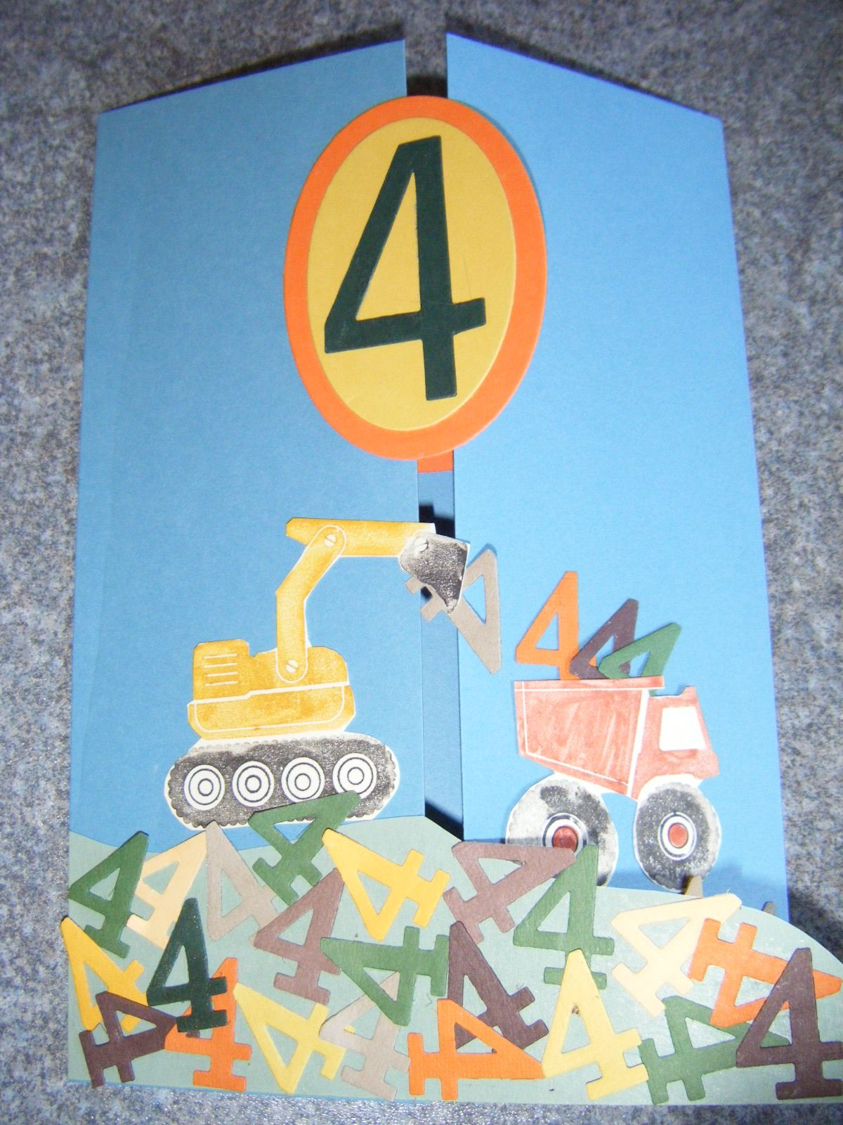 Birthday Card For A Four Year Old Boy