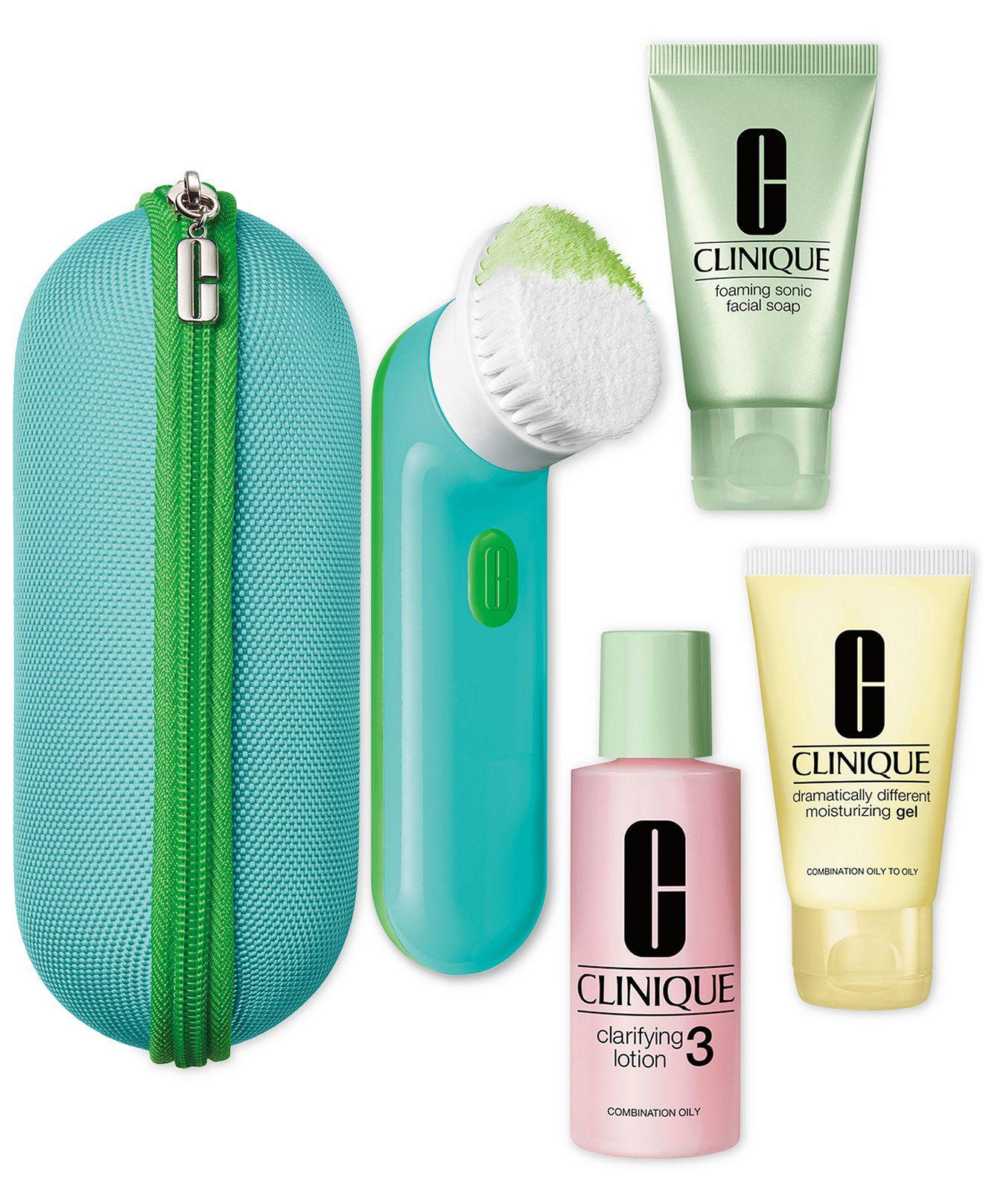 Clinique clean skin great skin set skin types 34