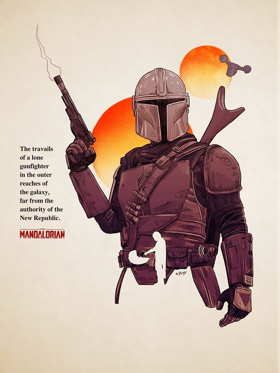 The Mandalorian Chapter 1 In 2020 Star Wars Drawings Star Wars Pictures Star Wars Characters