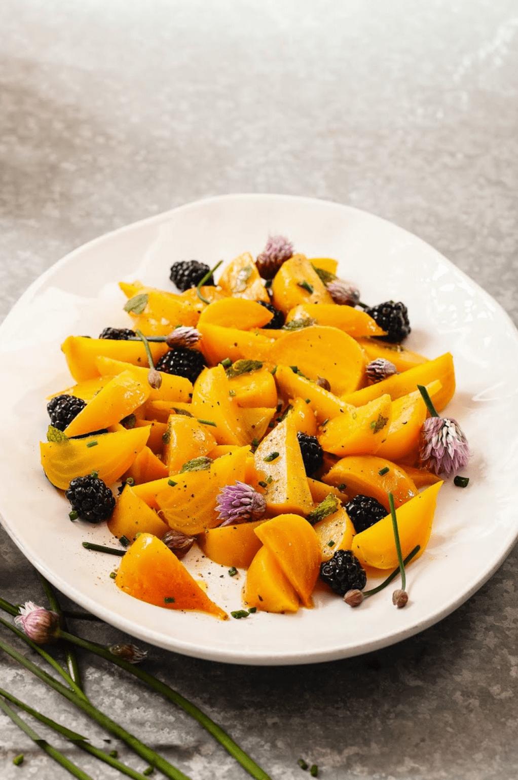 Golden Beet Salad Recipe With Blackberries Beet Salad Recipes Beet Recipes Golden Beets Salad