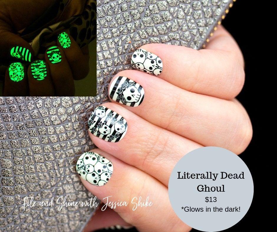 Literal Dead Ghoul Color Street Halloween Collection 2019 Color Street Nails Color Street Halloween Nails