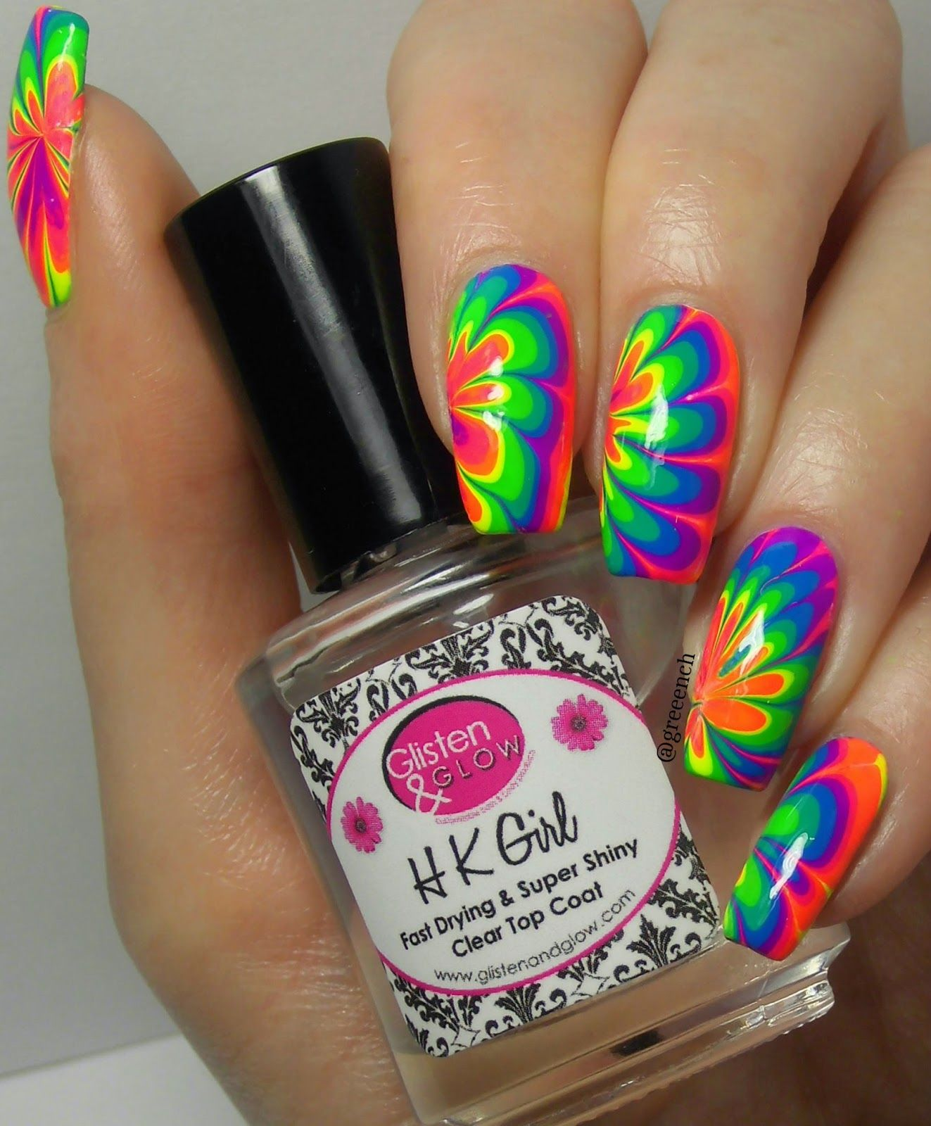 Green, Glaze & Glasses: Water Marble - Pipe Dream Polish A Night In Vegas Cremes