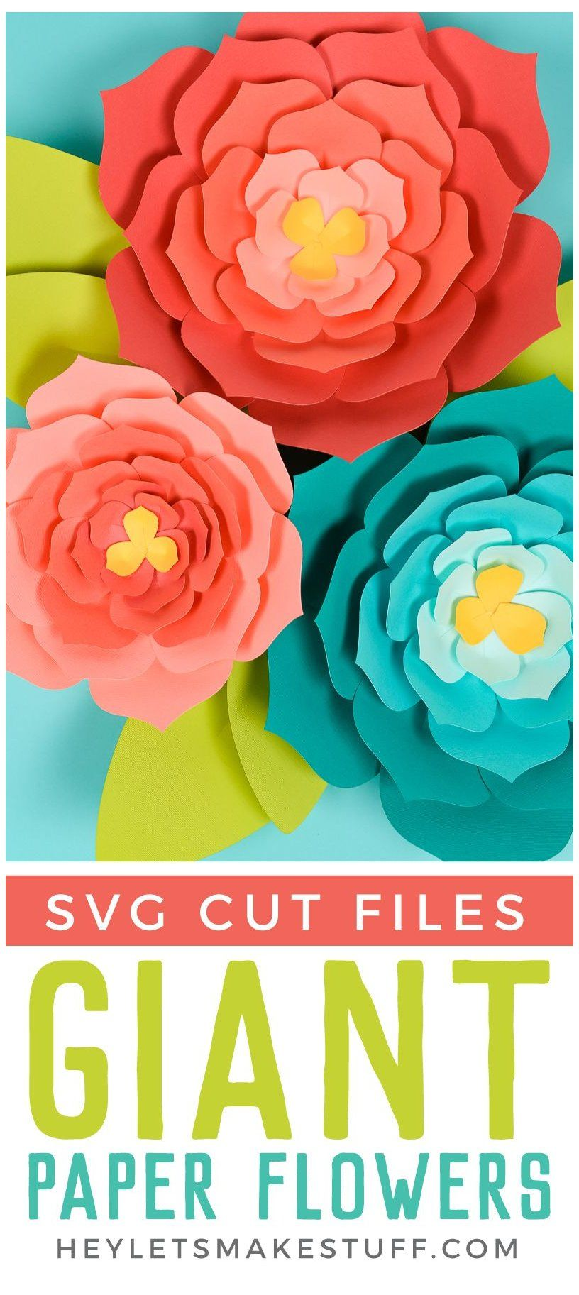 Giant Paper Flowers: Template + Tips and Tricks to Make It Easy #paperflower