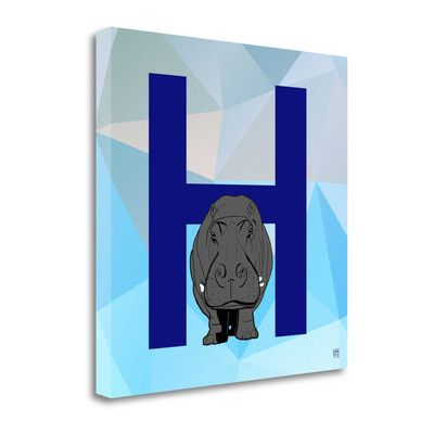 Tangletown Fine Art 'H' by Aubree Perrenoud Graphic Art on Wrapped Canvas in Blue