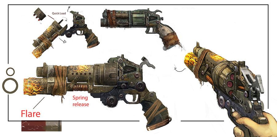 Fallout 4 Weapon Concept Art