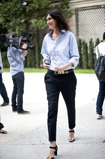 Street Style: el pantalón capri - con un toque masculino