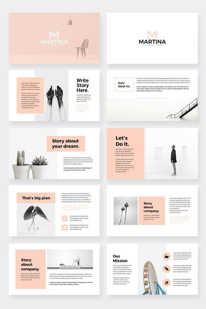 Modern PowerPoint Presentation Template Etsy in 2020
