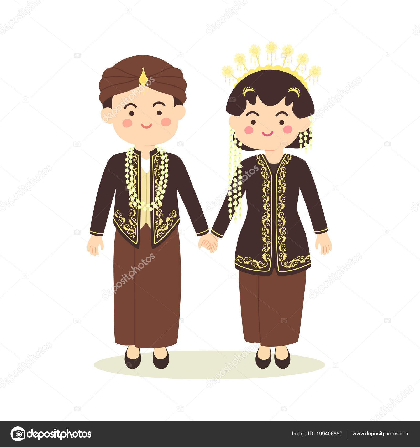 Download Royalty Free Central Java Indonesia Wedding Couple