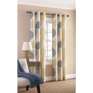 Mainstays Hanging Medallion Grommet Curtain Panels Set Of 2