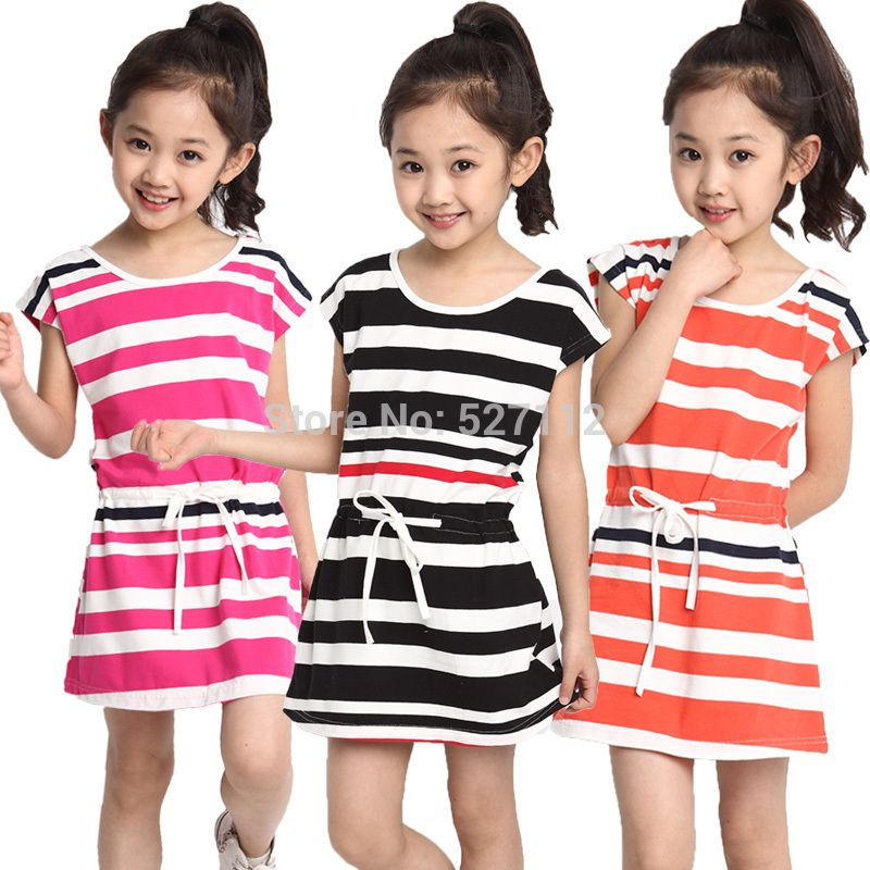 US $19.0 |Free shipping 2014 summer girls Dress cute striped five color  sleeveless princess dress Blue children's clothing New hot 8356-in Dresses from Mother & Kids on AliExpress