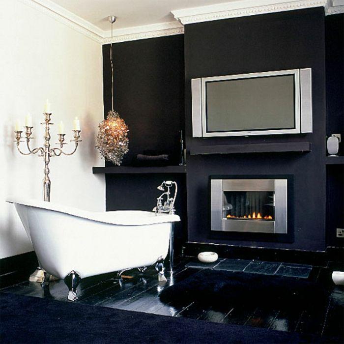 Aristokratisches Bad Einrichten   Design Vom Badezimmer In Weiß Und Schwarz