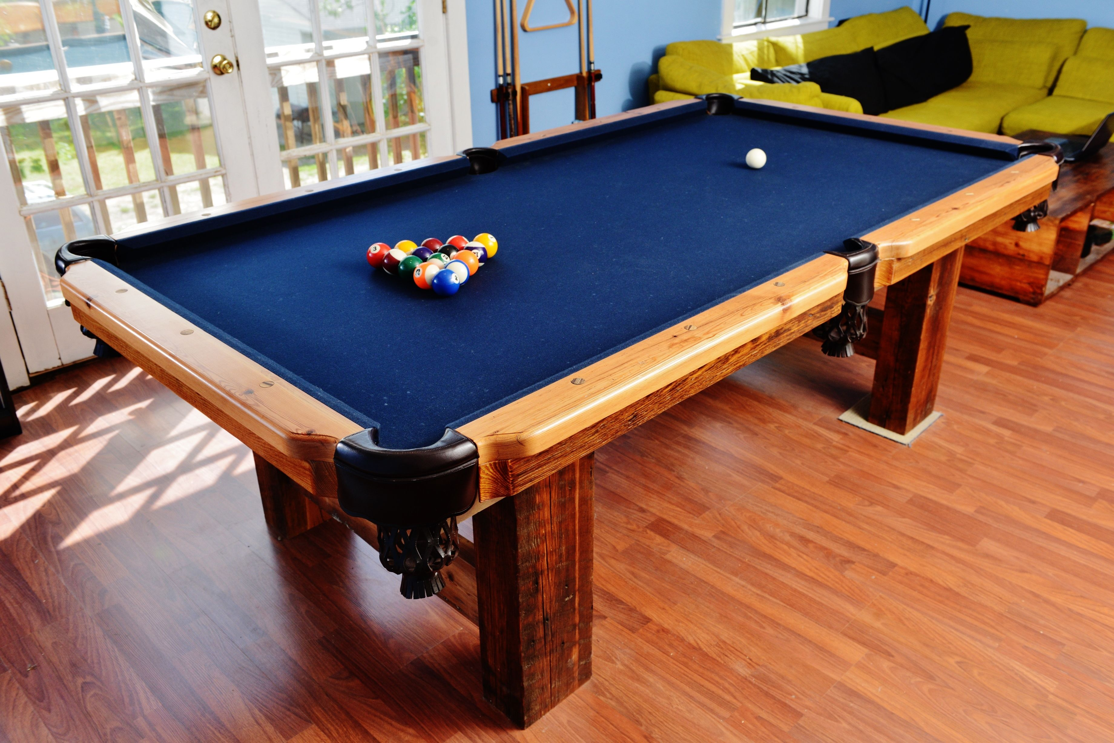 This Pool Table Is Our Pride And Joy, Made Of Some Of The Best Wood