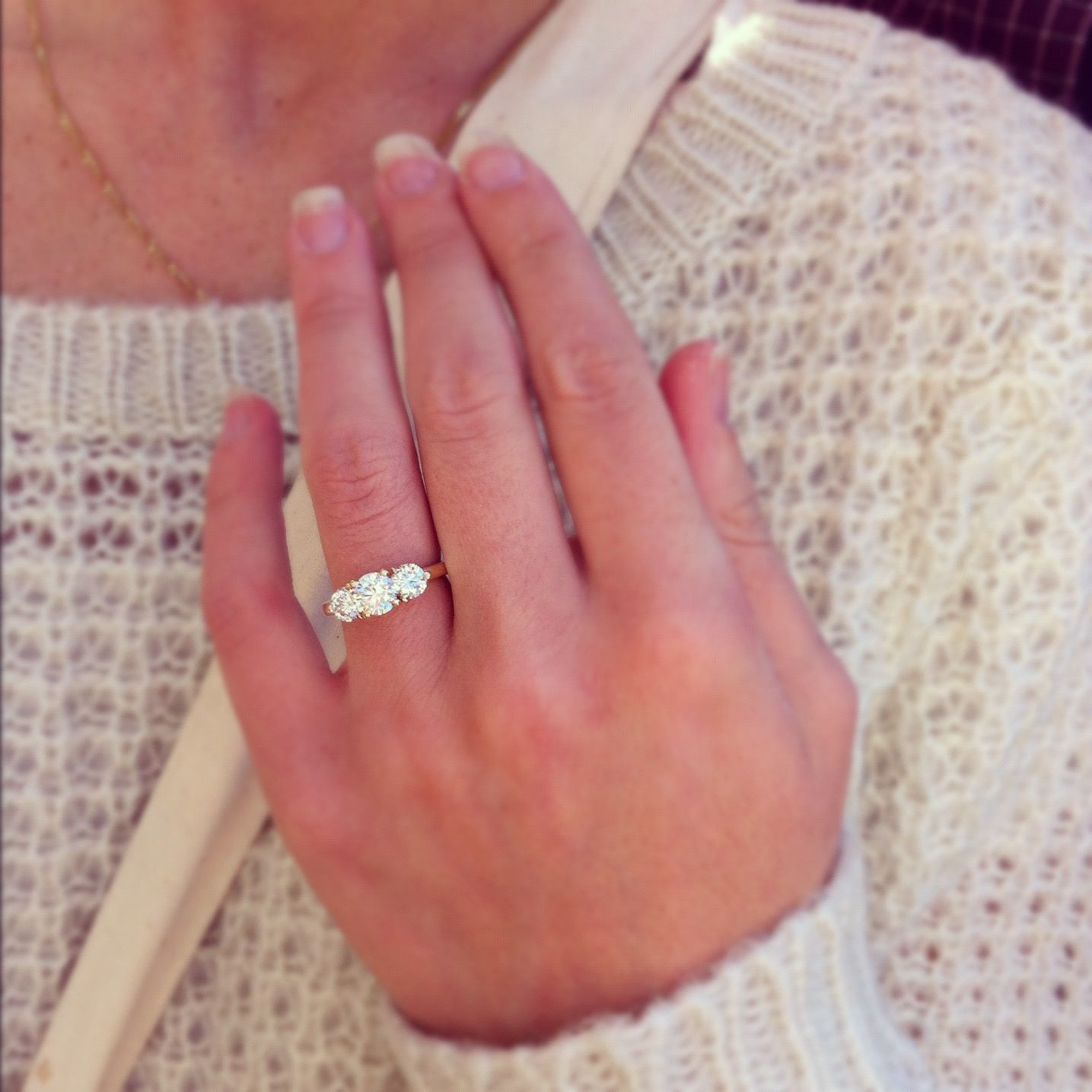 my beauty. three stone engagement ring. | *Rings & Things ...