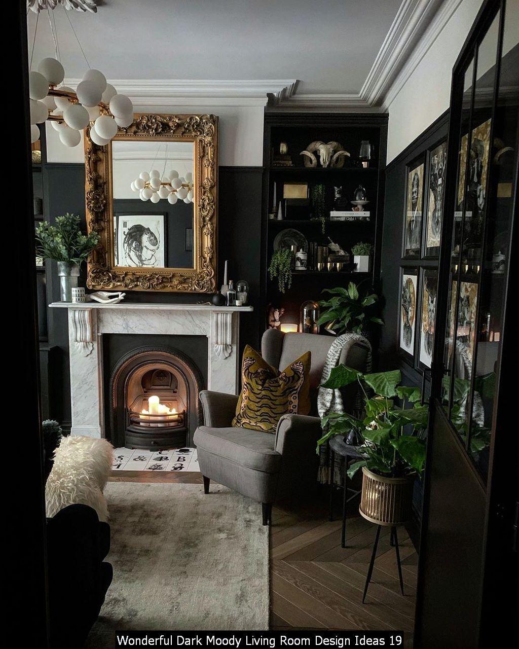 Wonderful Dark Moody Living Room Design Ideas Victorian Home Decor Moody Living Room Dark Living Rooms