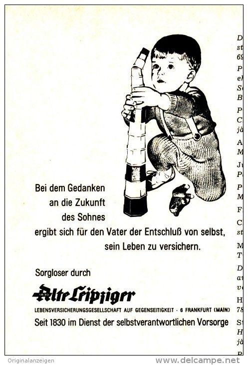 OriginalWerbung/Inserat/ Anzeige 1968 ALTE LEIPZIGER