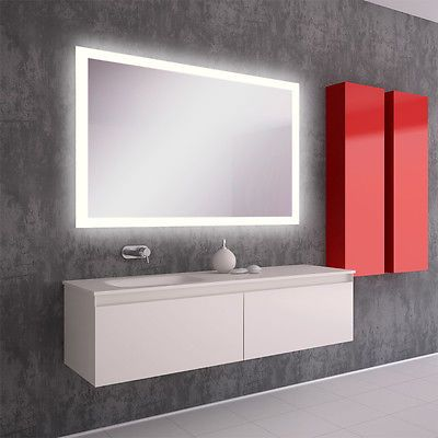 details zu led bad spiegel badezimmerspiegel mit beleuchtung badspiegel wandspiegel s40 bad wc. Black Bedroom Furniture Sets. Home Design Ideas