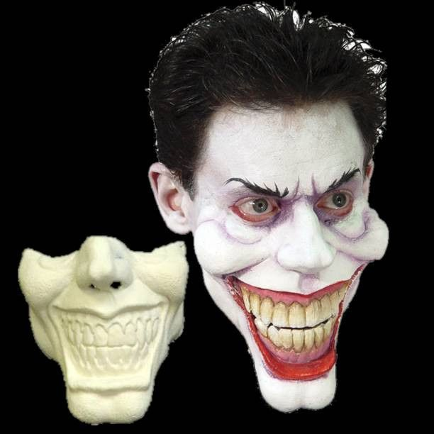 woochies funny face halloween mask is made of foam latex it is a movie quality fx makeup style appliance that sticks to your face and moves with your