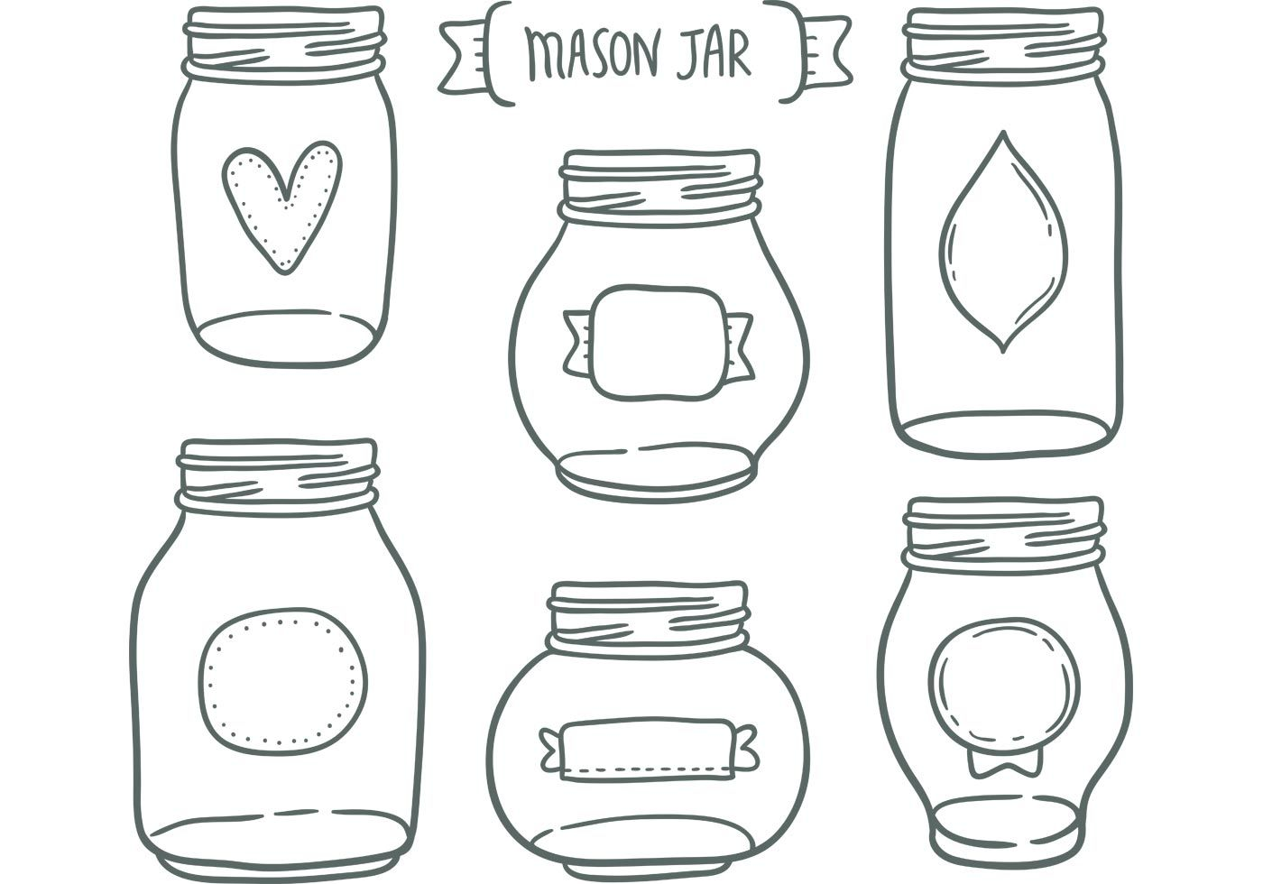 Need A Cute Mason Jar Vectors For Your Next Project This
