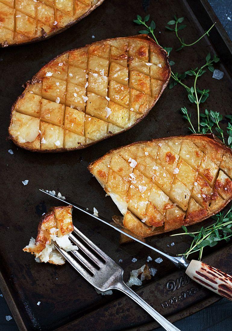 Salt and Malt Vinegar Russet Potatoes #russetpotatorecipes