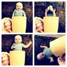 Was für eine süße #Bildidee für ein #Babyshooting  – #Baby in der #Tasse