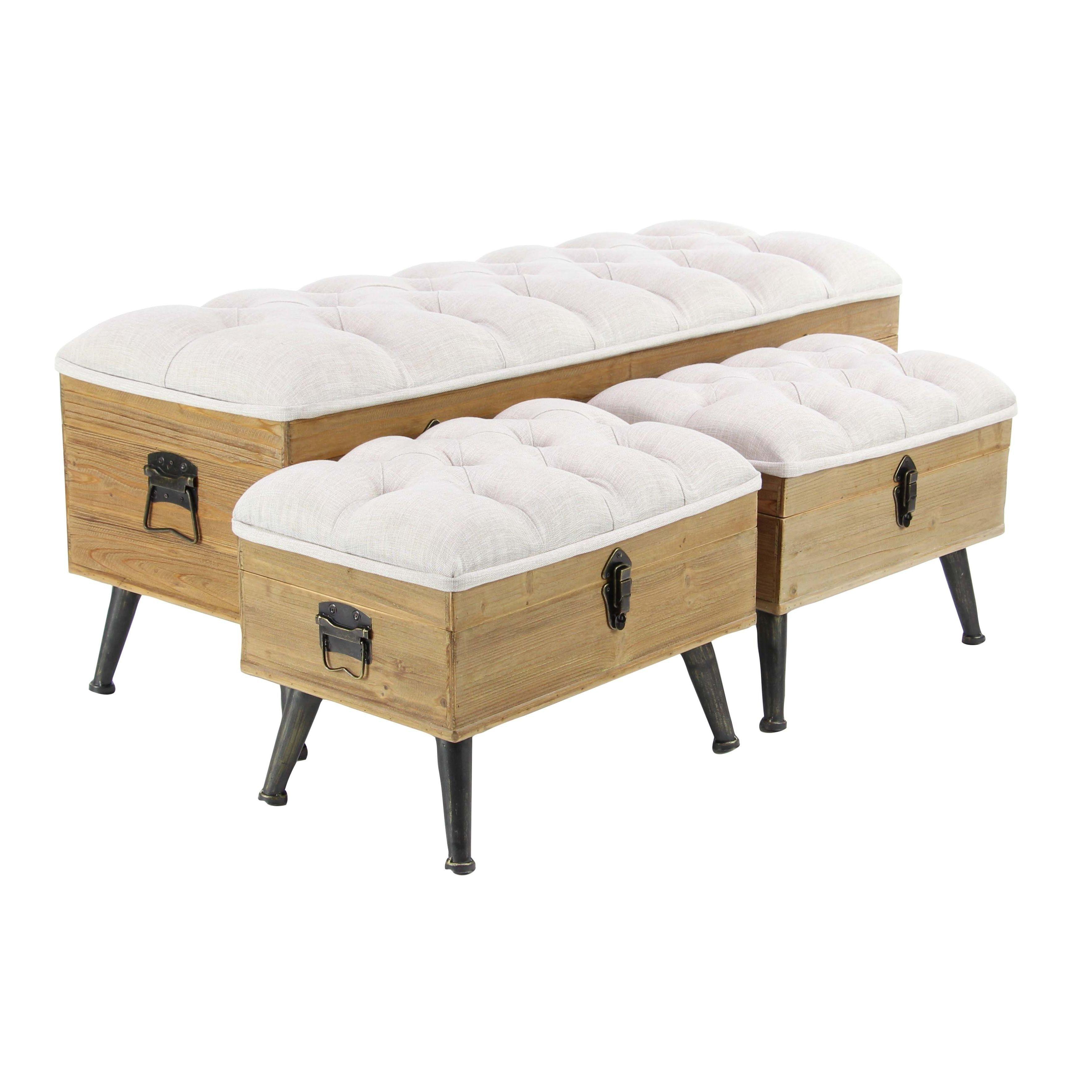 Superb Studio 350 White Wood Assorted Upholstered Storage Benches Inzonedesignstudio Interior Chair Design Inzonedesignstudiocom