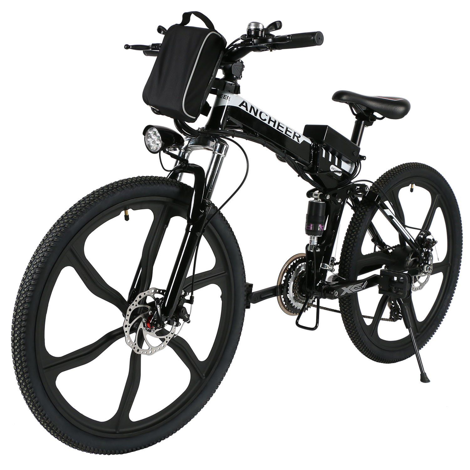 ancheer folding electric mountain bike with 26 super lightweight magnesium alloy 6. Black Bedroom Furniture Sets. Home Design Ideas