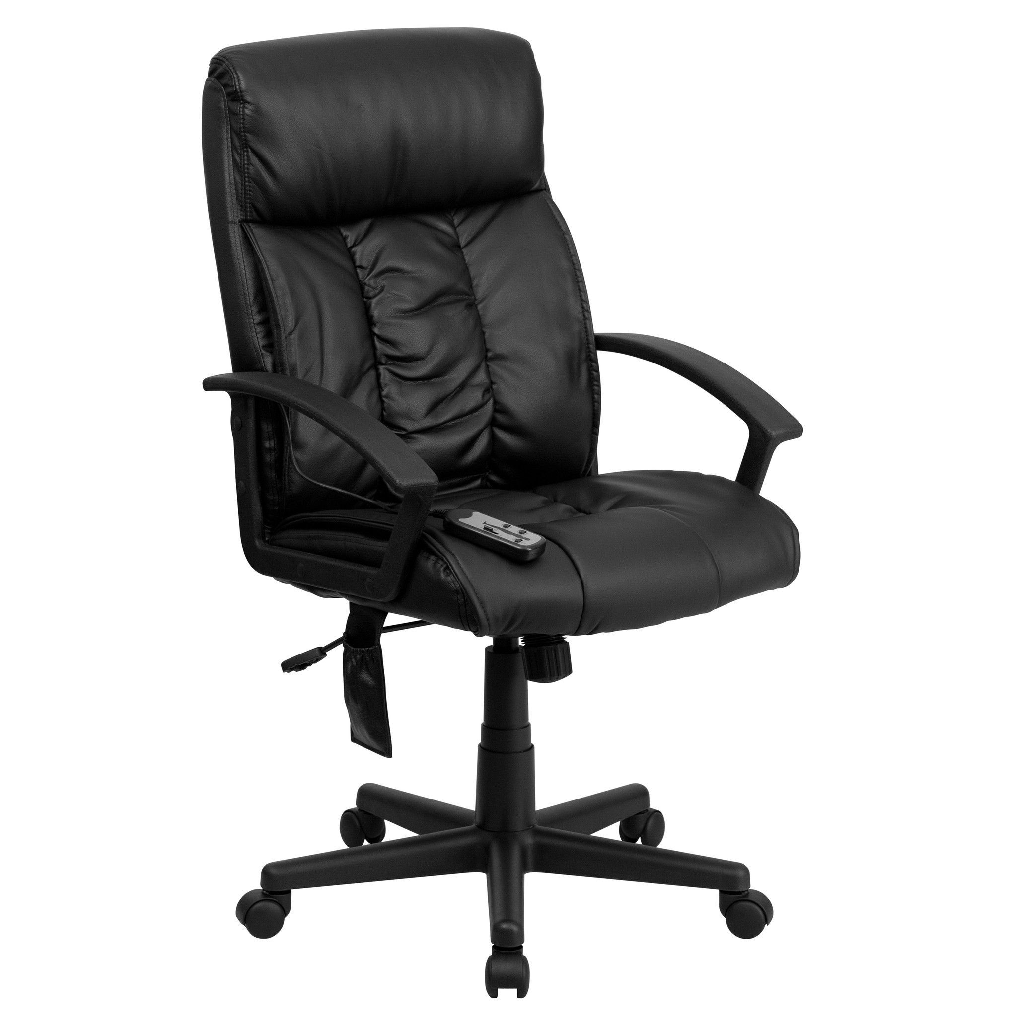 contemporary leather high office chair black. Contemporary Black Leather Plastic High Back Massaging Office Chair E