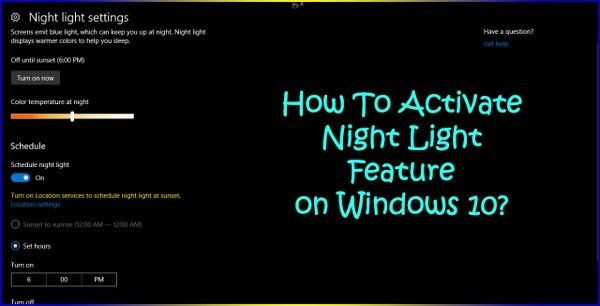 Hello friends how are you i am fine probably you guys are also how to activate night light feature on windows lets know about it that how do you activate this new feature and how to activate the new feature read on ccuart Images