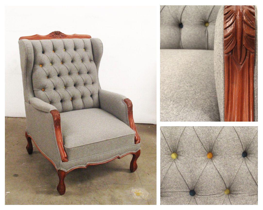 Sillon individual capitonado muebles fantasma - Sillones para lectura ...