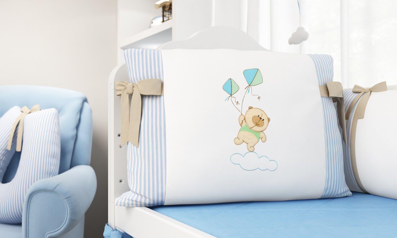 Babyone Kinderzimmer | A Cabeceira Do Kit Berco Tambem Traz A Estrela Do Quarto De Bebe