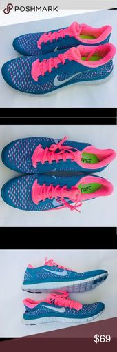 Photo of Nike Free 3.0 v4 Blue/Pink Trainers Running Shoes Basket Nike Free 3 V4. Color: …
