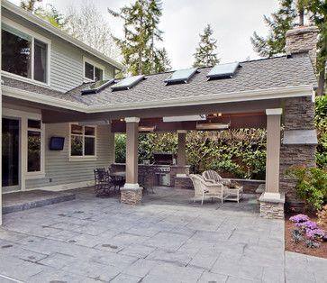 patio couvert avec fenetres au plafond id es r no d co pinte. Black Bedroom Furniture Sets. Home Design Ideas