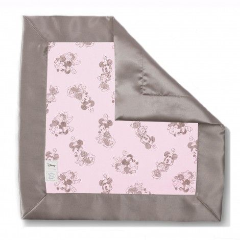 Minnie Mouse Taupe Gray On Pastel Pink Baby Lovie 174 By