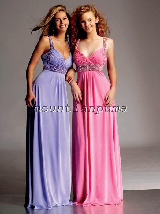 chiffon bridesmaids dress bridal prom dress wedding gown evening ball deb WWWWWW | eBay