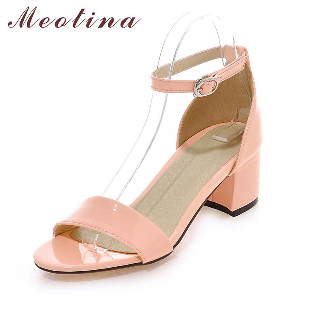 Chaussures à talon carré beiges Fashion femme 6BDPpRH