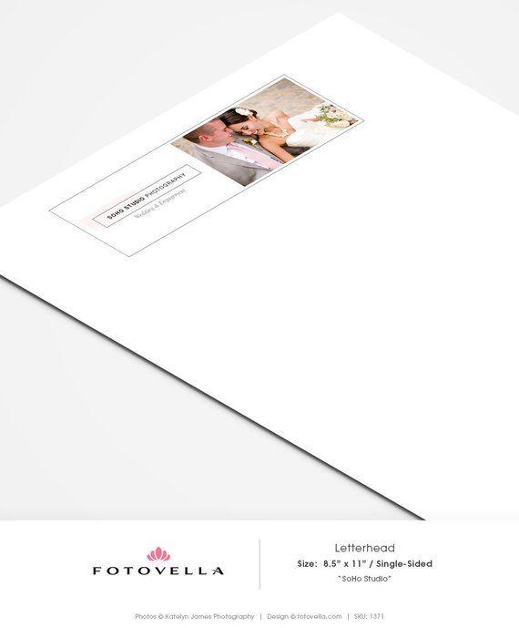 Photography Letterhead Template Soho Studio 1371