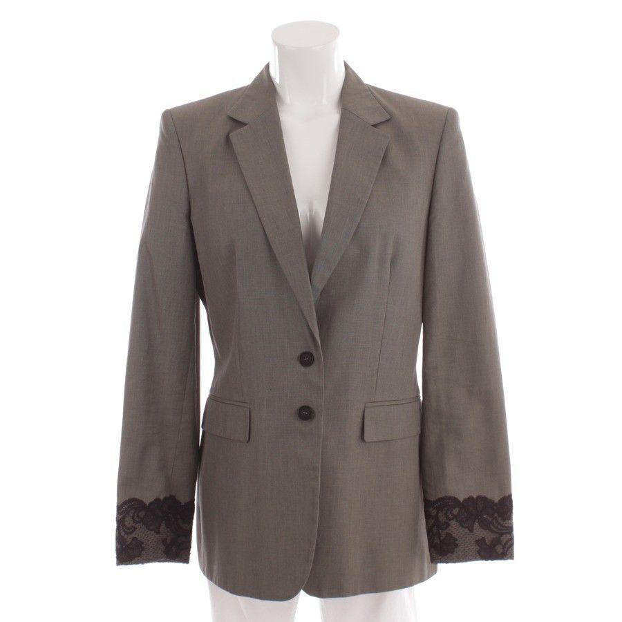 RENA LANGE Blazer Gr. DE 40 Grau Blau Damen Jacke Jacket Jackett Coat Blouson