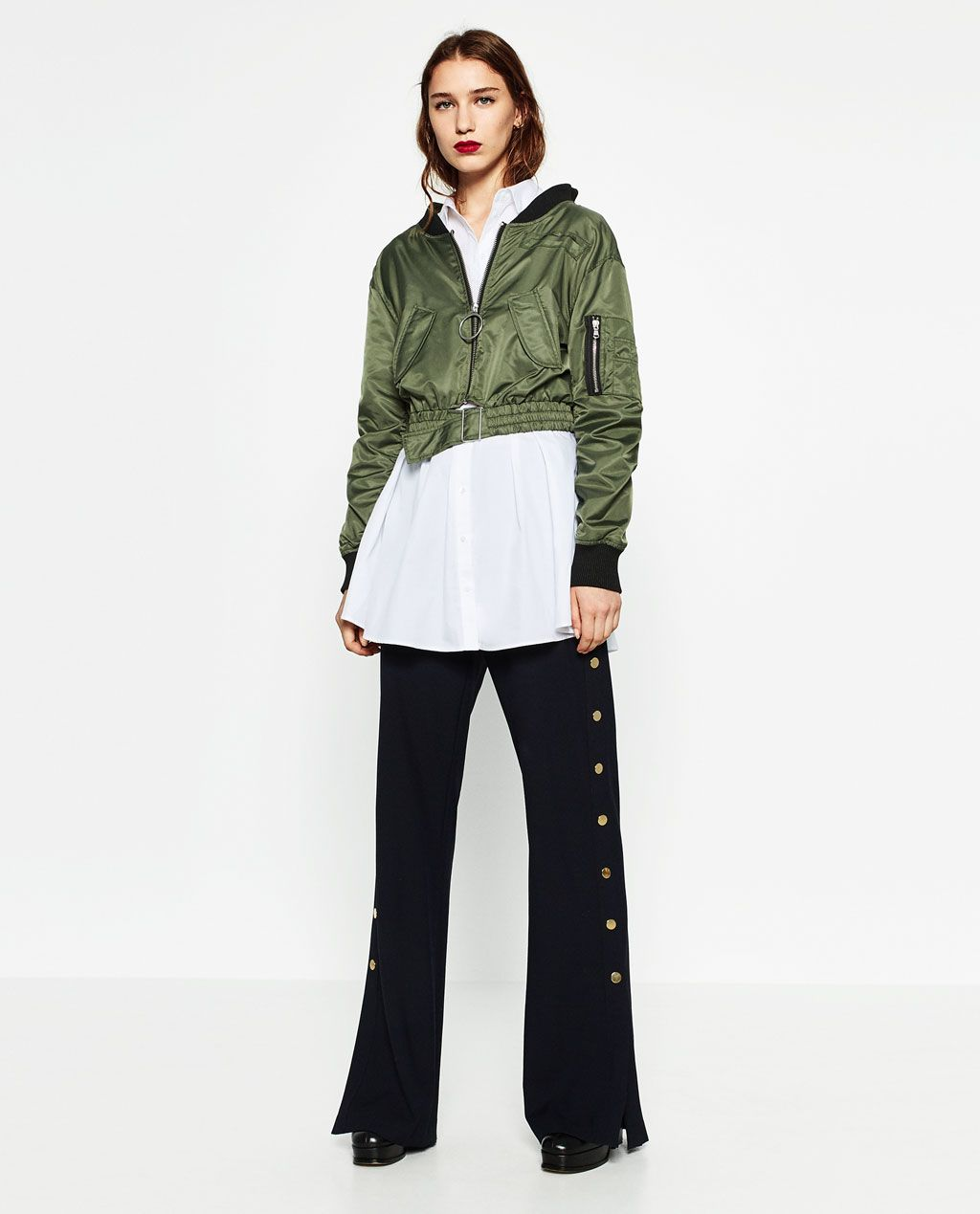 4dae3c1f465f CROPPED BOMBER JACKET-BOMBERS-WOMAN
