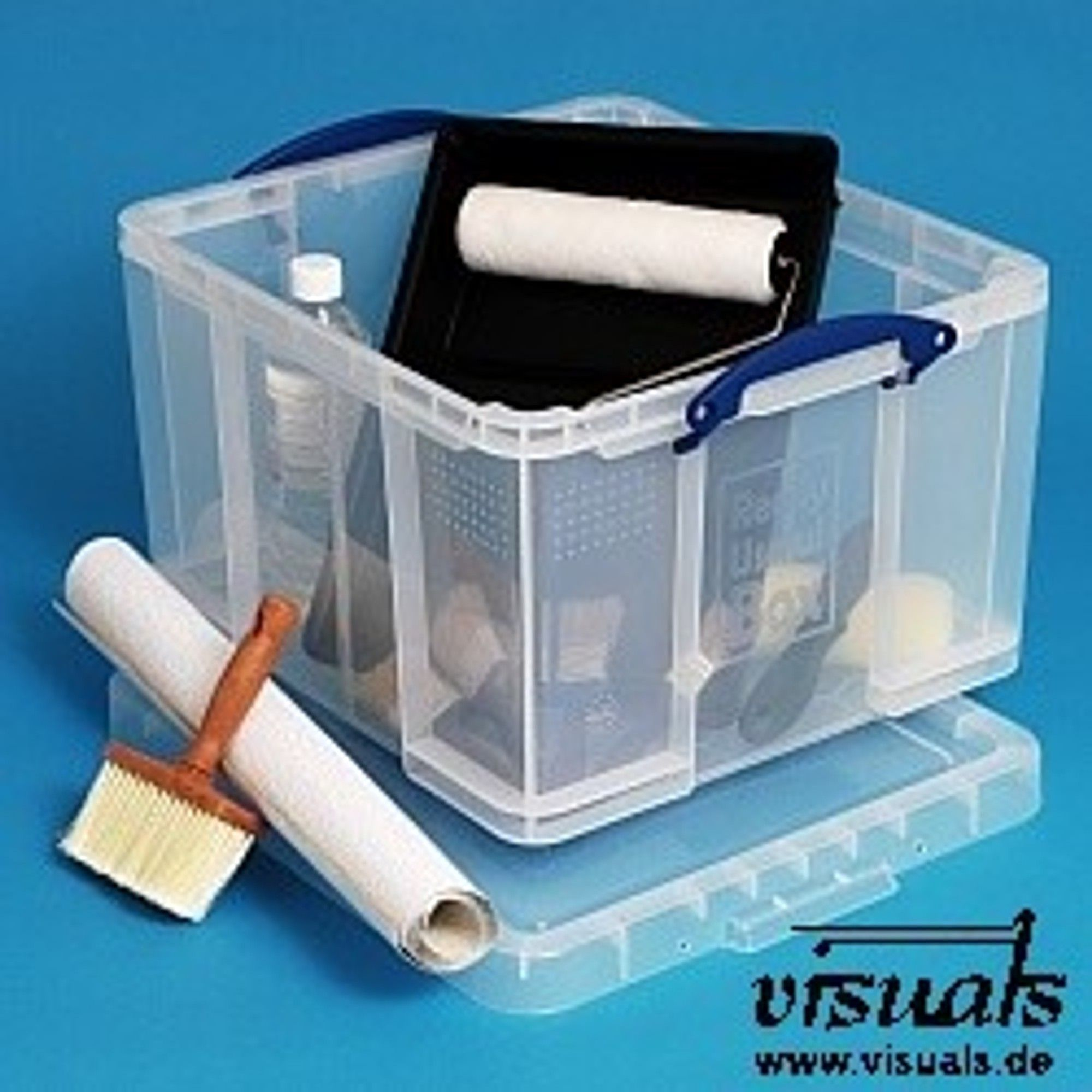 Really Useful Box 42 Liter Transparent Mit Deckel Deckel