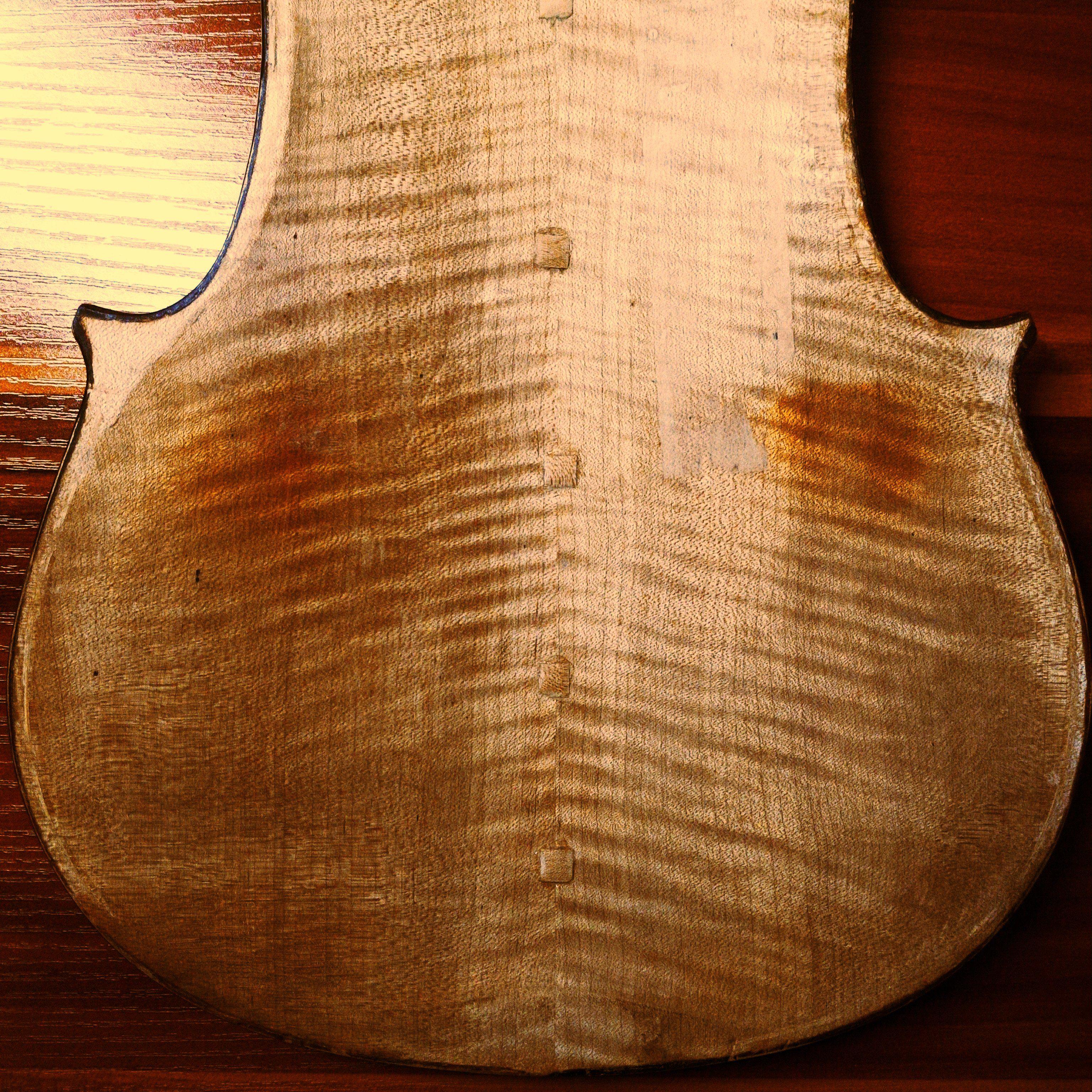 Old Lefty Violin Restration 左利きのオールドバイオリンを復元中