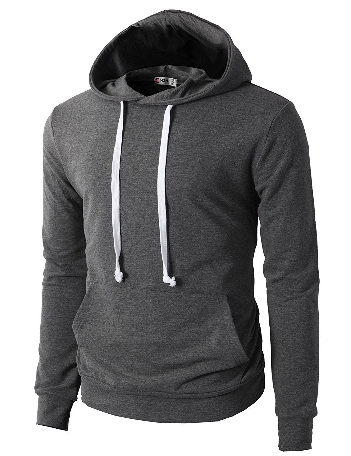 Mens Casual Slim Fit Long Sleeve Color Block Hoodie With V