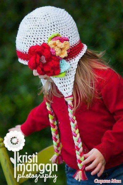 patrones crochet, gorros con orejeras para niños y bebés 1   cat ...