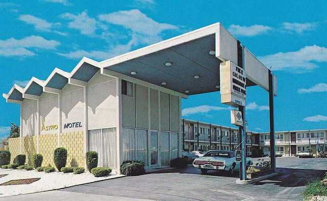Astro Motel Antioch California Googie Lobby With One Of The Largest Carports
