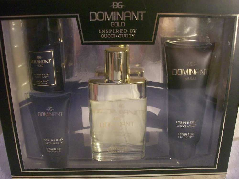 Dominant Gold Version Inspired By Gucci Guilty 4 Pc Mens Gift