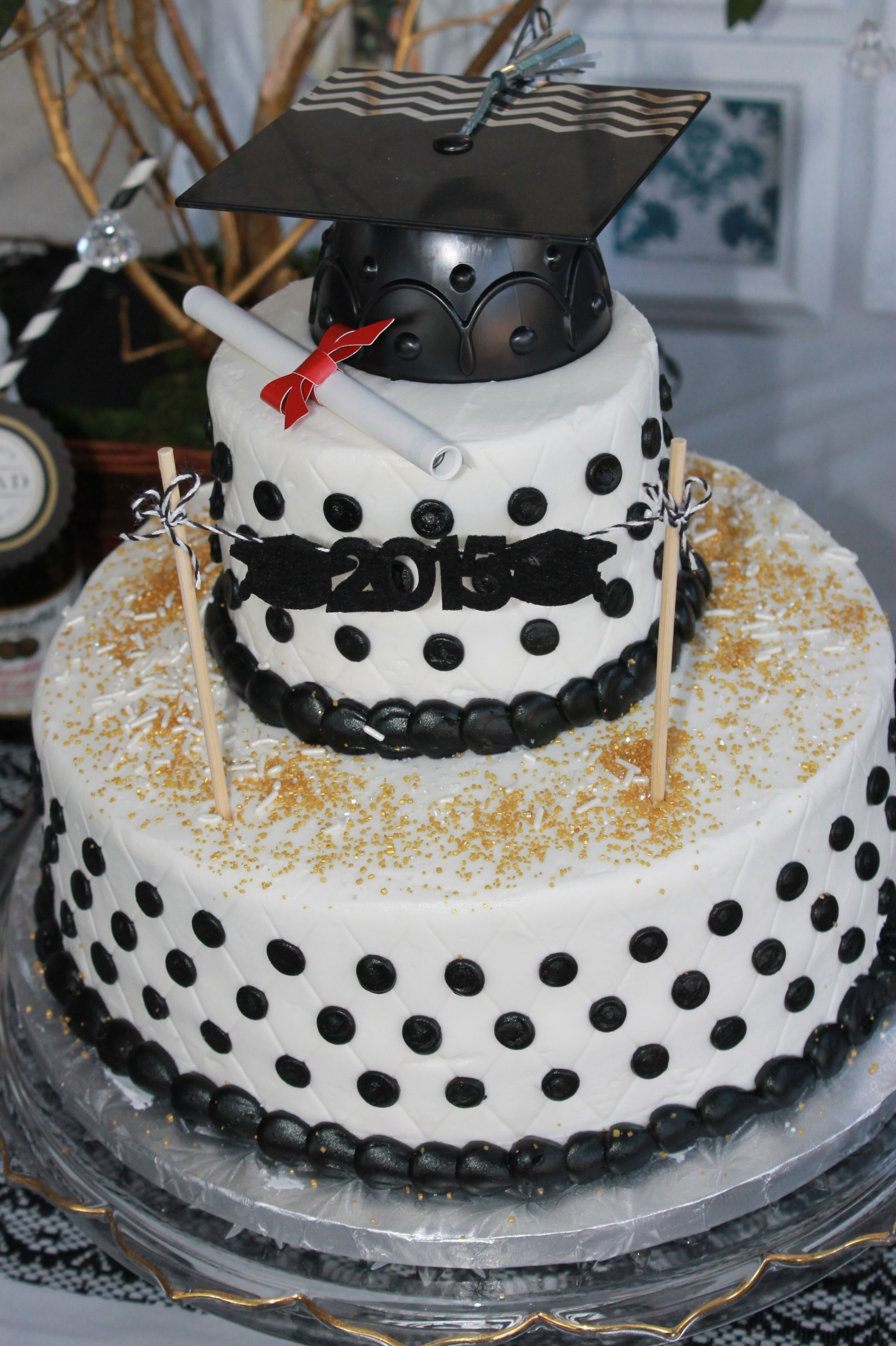 Cake from Sams club Black and White Graduation cake under 35