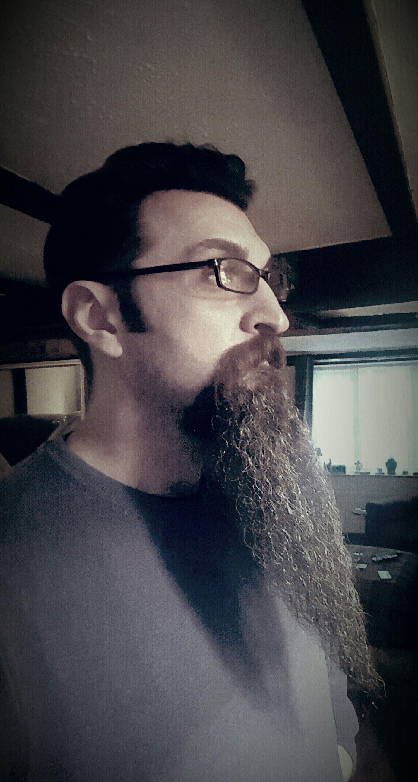 long goatee beard .. side beard Beard no mustache