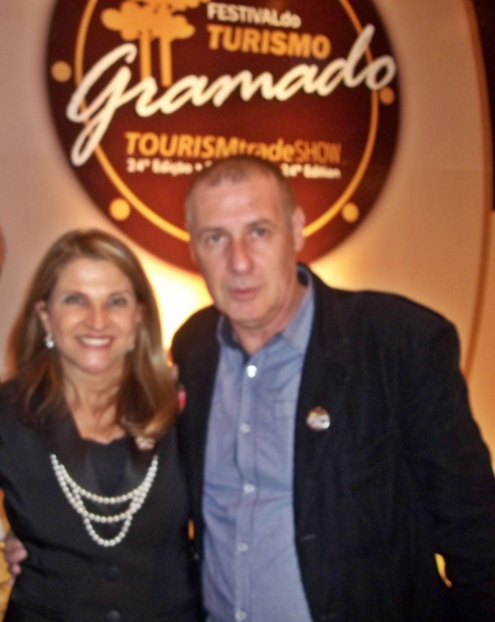 Marta Rossi, Diretora do Festuris Gramado e Miguel Luiz Medeiros, Revista Quasar Turismo.