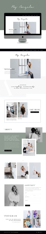 Modern Sleek Website Design For Lifestyle Blogger Design By Go Live Hq Web Design Inspiration Squarespace Web Design Creative Web Design