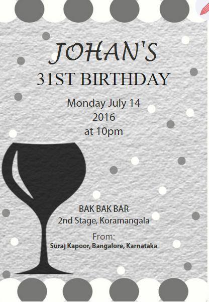 Customize And Send Birthday Invitation Card For Year Old - Birthday invitation 30 years old